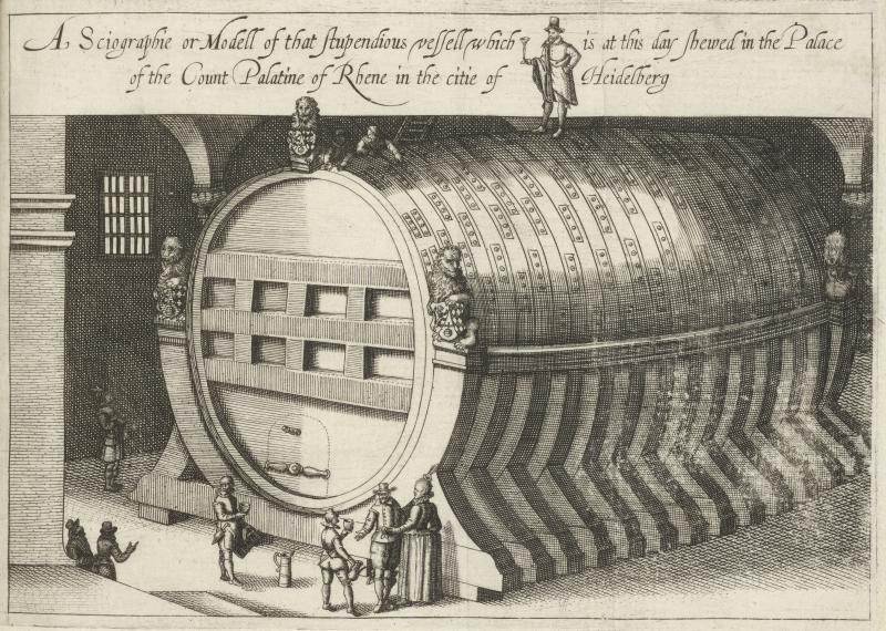 Illustration of the Heidelberg Tun from Folger STC 5808 Copy 2.