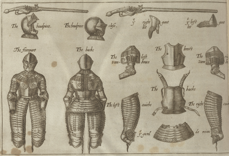 Illustration of armor from Folger STC 161.