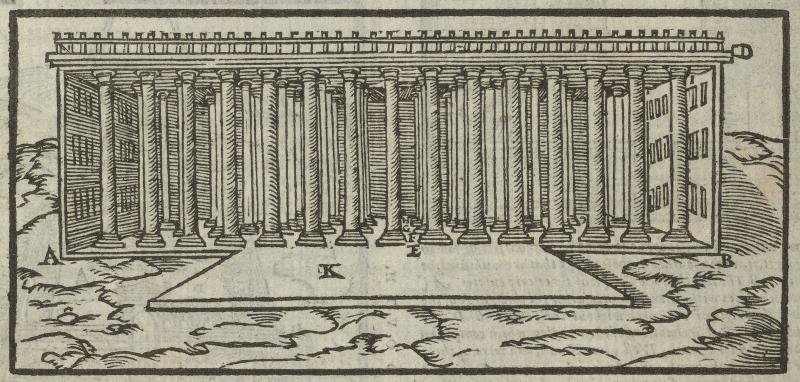 Illustration of Solomon's Temple from Folger STC 2239.